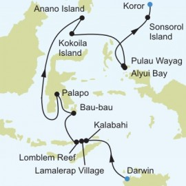 Darwin to Koror Itinerary