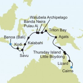 Cairns to Bali Silversea Cruises Cruise