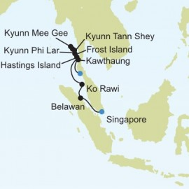 Singapore to Phuket Silversea Cruises Cruise