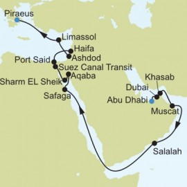 Arabian and Red Seas Itinerary