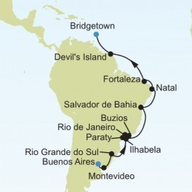 Buenos Aires to Bridgetown Itinerary