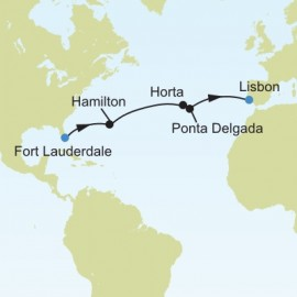 Fort Lauderdale Florida to Lisbon Itinerary