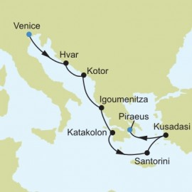 Venice to Piraeus Athens Itinerary