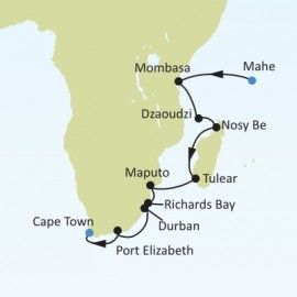 Mahe to Cape Town Silversea Cruises Cruise