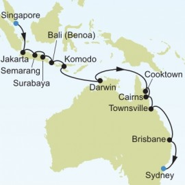Singapore to Sydney Silversea Cruises Cruise