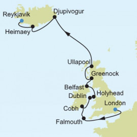 London to Reykjavik Silversea Cruises Cruise