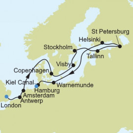 London to Hamburg Silversea Cruises Cruise