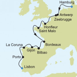 Hamburg to Lisbon Itinerary