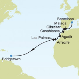 Barcelona to Bridgetown Itinerary