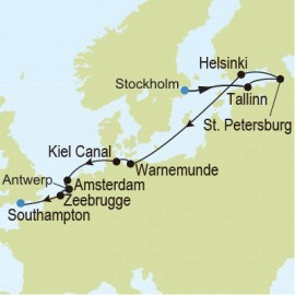 Stockholm to Southampton Itinerary