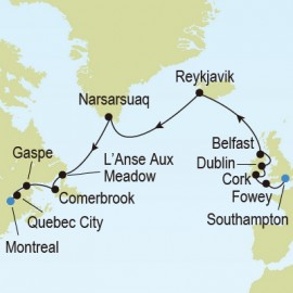 Southampton to Montreal Itinerary