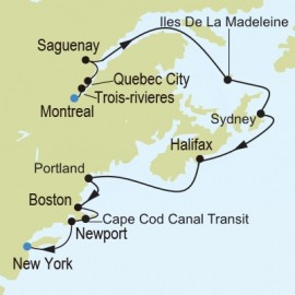 Montreal to New York Itinerary