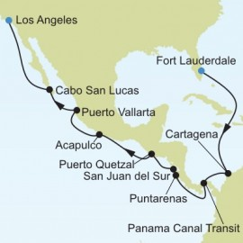Fort Lauderdale to Los Angeles Silversea Cruises Cruise
