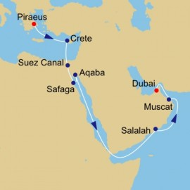 Route of the Frankencense Azamara Club Cruises Cruise