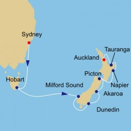 Tasmania and New Zealand  Azamara Club Cruises Cruise