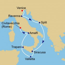 Adriatic Malta and Sicily Itinerary