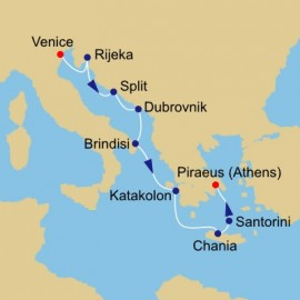 Adriatic and Greece Voyage Itinerary