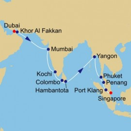 The Spice Route Voyage Azamara Club Cruises Cruise