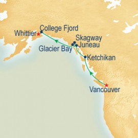 Voyage of the Glaciers Northbound Itinerary