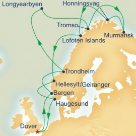 Midnight Sun and Spitsbergen Itinerary