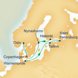Ports Scandinavia and Russia Itinerary