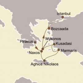 Greek Isles and Ephesus Itinerary