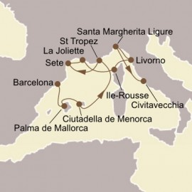 Spanish Isles and Italy Itinerary