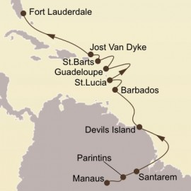 Amazon and Caribbean Isles Itinerary