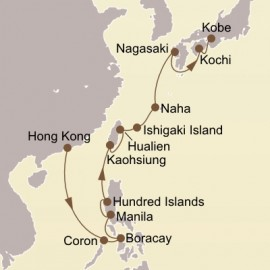 Pearls Of The China Sea and Japan Itinerary
