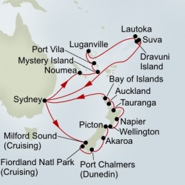 Pacific Treasures and New Zealand Discovery Holiday Holland America Line Cruise
