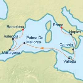 Italy and Spain Cruise Itinerary