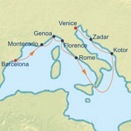 France Italy and Adriatic Cruise Itinerary