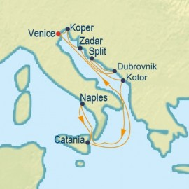 Italy and Croatia Cruise Itinerary