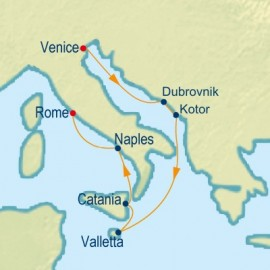 Adriatic and Italy Cruise Itinerary
