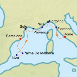 Riviera and Mediterranean Cruise Itinerary