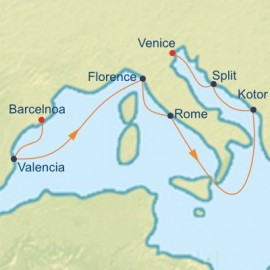 Mediterranean and Adriatic Cruise Itinerary