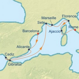 Spain France and Italy Cruise Itinerary