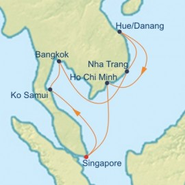 Thailand and Vietnam Cruise Itinerary