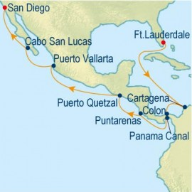 Westbound Panama Canal Itinerary