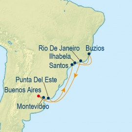 South America and Carnival Itinerary