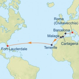 Western Europe Transatlantic Itinerary