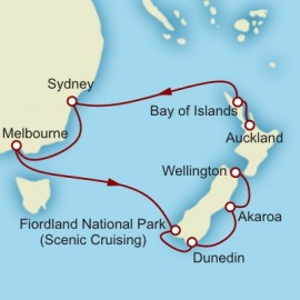Auckland to Wellington World Sector Cunard Cruise