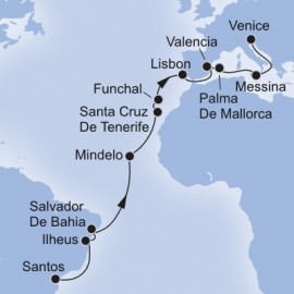 MSC Grand Voyages Itinerary