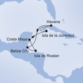 Caribbean and Cuba and Antilles Itinerary