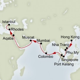 Hong Kong to Istanbul Grand World Sector Itinerary