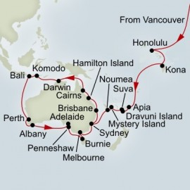South Pacific and Australia Circumnavigation Collector Cruise