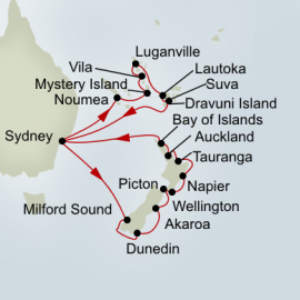 New Zealand Discovery and Pacific Treasures Holiday Cruise