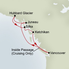 Roundtrip Vancouver Holland America Line Cruise