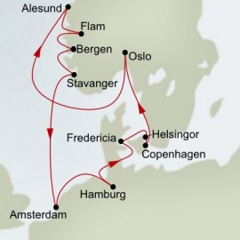 Kiel Canal and Norway Explorer  Itinerary