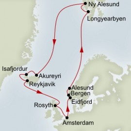 North Cape Spitsbergen and Icelandic Explorer  Itinerary